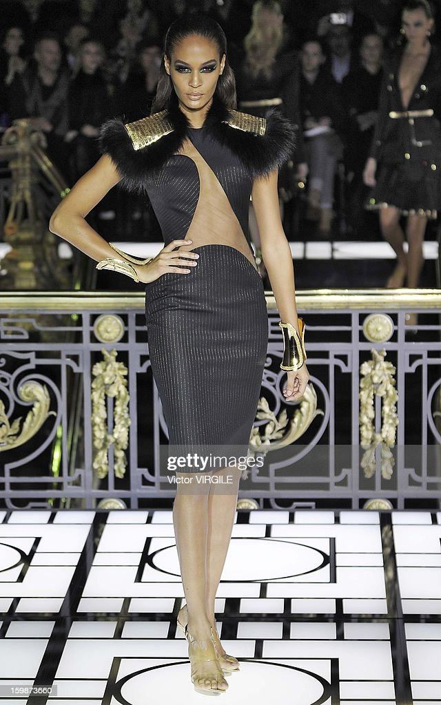 Joan Smalls walks the runway during the Atelier Versace Spring/Summer 2013 Haute-Couture show as part of Paris Fashion Week at Le Centorial on January 20, 2013 in Paris, France.