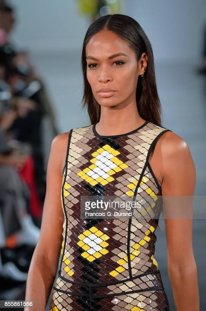 Joan Smalls walks the runway during the Mugler show as part of the Paris Fashion Week Womenswear Spring/Summer 2018 on September 30 2017 in Paris...