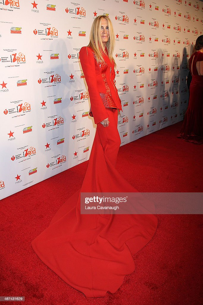 Joan van Ark attends The Red Dress Fashion Show during Fall 2014 Mercedes - Benz Fashion week on February 6, 2014 in New York City.