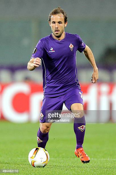Joan Verdu' of ACF Fiorentina in action during the UEFA Europa League group I match between ACF Fiorentina and KKS Lech Poznan on October 22 2015 in...