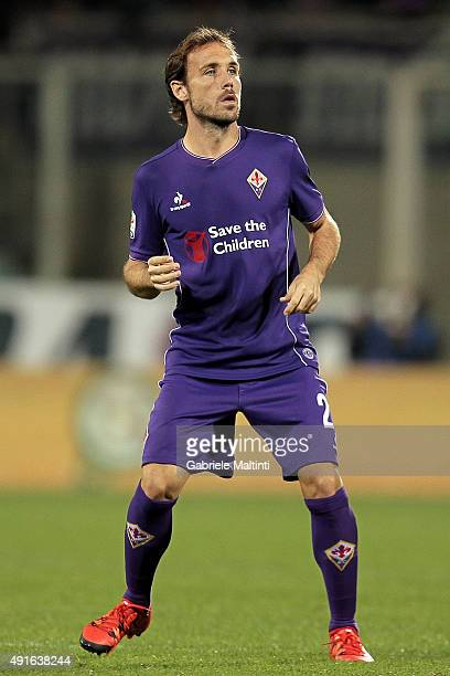 Joan Verdu' of ACF Fiorentina looks on during the Serie A match between ACF Fiorentina and Atalanta BC at Stadio Artemio Franchi on October 4 2015 in...