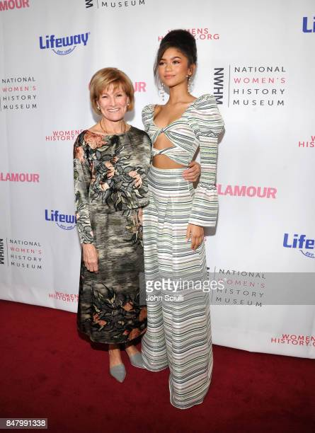 Joan Wages and Zendaya at the Women Making History Awards at The Beverly Hilton Hotel on September 16 2017 in Beverly Hills California