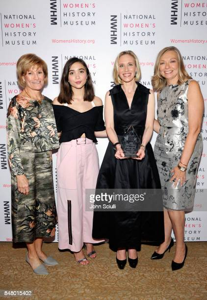 Joan Wages Rowan Blanchard Marne Levine and Susan Whiting at the Women Making History Awards at The Beverly Hilton Hotel on September 16 2017 in...