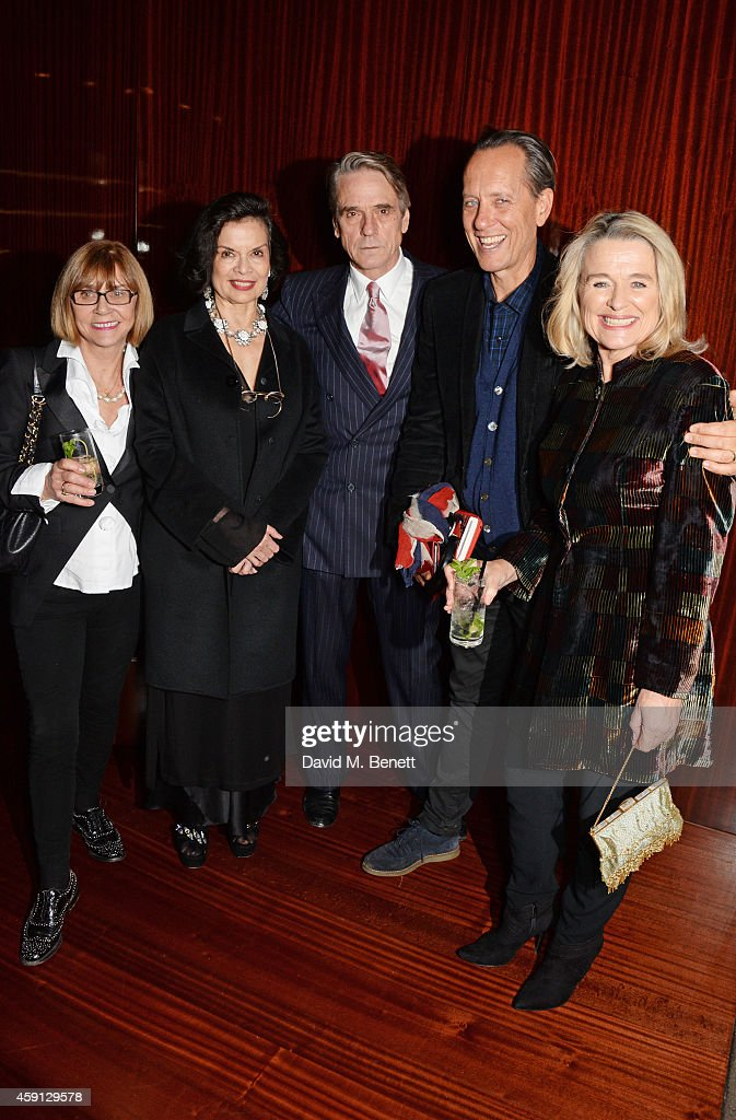 Joan Washington Bianca Jagger Jeremy Irons Richard E Grant and Sinead Cusack attend the Liberatum Cultural Honour for Francis Ford Coppola at The...