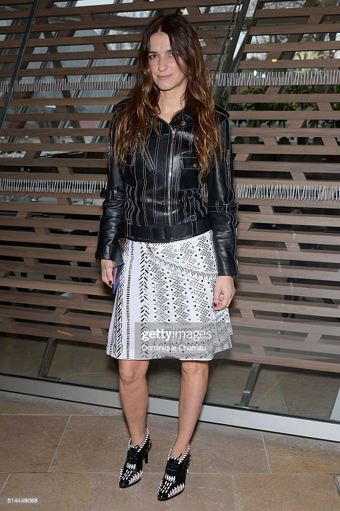 Joana Preiss attends the Louis Vuitton show as part of the Paris Fashion Week Womenswear Fall/Winter 2016/2017 on March 9, 2016 in Paris, France.