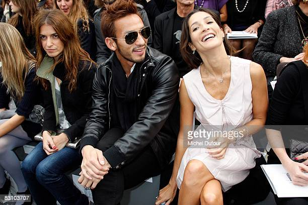 Joana Preiss Hidetoshi Nakata and Astrid Munoz attend the Chanel PFW Spring Summer 2009 show at Paris Fashion Week 2008 at Grand Palais on October 3...