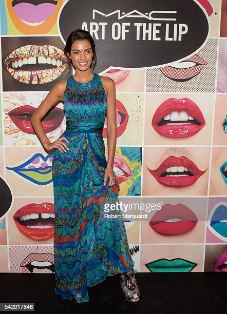 Joana Sanz attends a photocall for the MAC store opening on June 21 2016 in Barcelona Spain