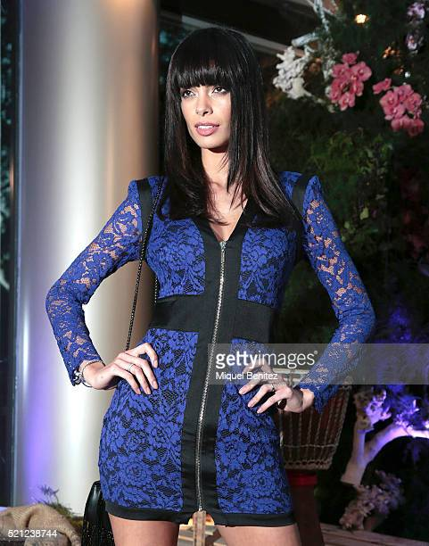 Joana Sanz attends a photocall for the opening of 'Ikibana Sarria' restaurant on April 14 2016 in Barcelona Spain