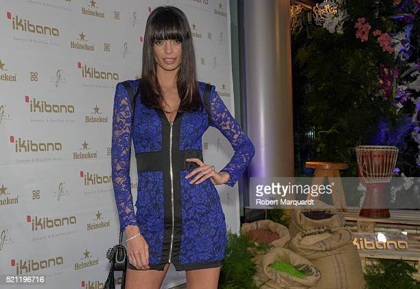 Joana Sanz poses during a photocall for the opening of 'Ikibana Sarria' restaurant on April 14 2016 in Barcelona Spain
