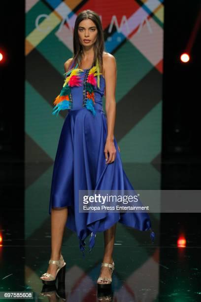 Joana Sanz walks the catwalk during Gran Canaria Moda Calida Fashion Show on June 18 2017 in Maspalomas Spain