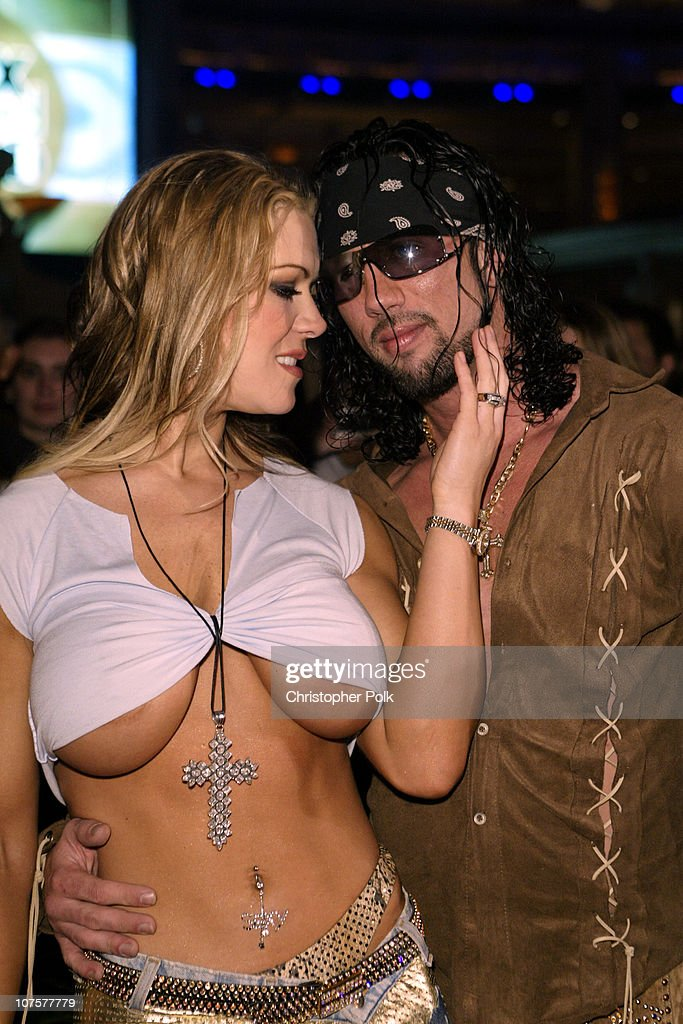 Joanie Laurer and Shawn Waldman during 2002 Fox Billboard Bash Arrivals at Studio 54 inside MGM Grand Casino in Las Vegas NV