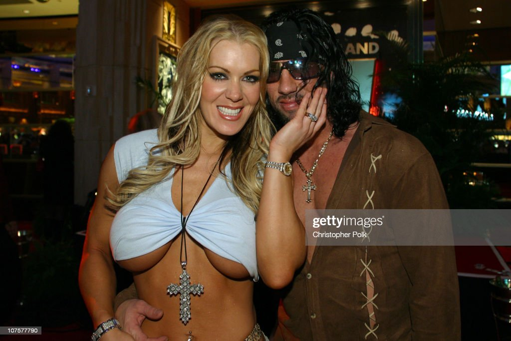 Joanie Laurer and Shawn Waldman during 2002 Fox Billboard Bash Show and Party at Studio 54 inside MGM Grand Casino in Las Vegas NV