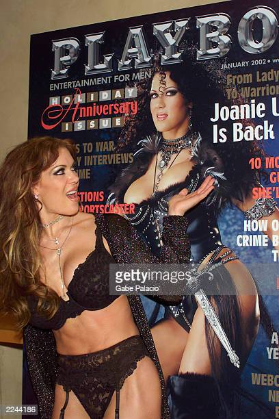 Joanie Laurer who formerly played the character Chyna for the WWF was at the Virgin Mega Store in Union Square in New York City on November 26 2001...