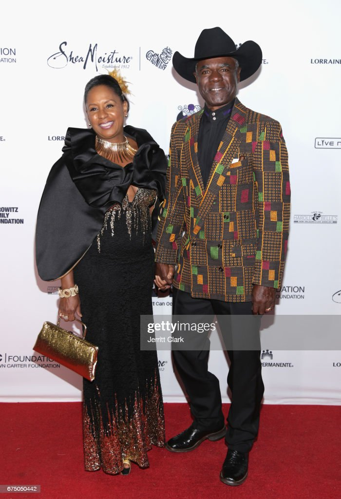 Jo-Ann Allen and Glynn Turman attend the Wearable Art Gala - Arrivals at California African American Museum on April 29, 2017 in Los Angeles, California.