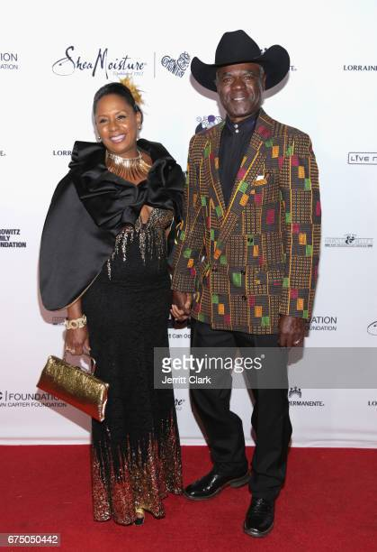 JoAnn Allen and Glynn Turman attend the Wearable Art Gala Arrivals at California African American Museum on April 29 2017 in Los Angeles California