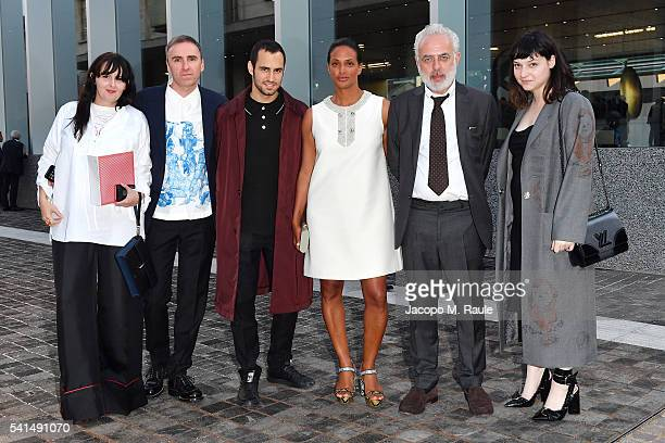 Joann Furniss Raf Simons JeanGeorges D'OrazioVanessa Riding Francesco Bonami and guest attend private dinner hosted by Miuccia Prada and Patrizio...