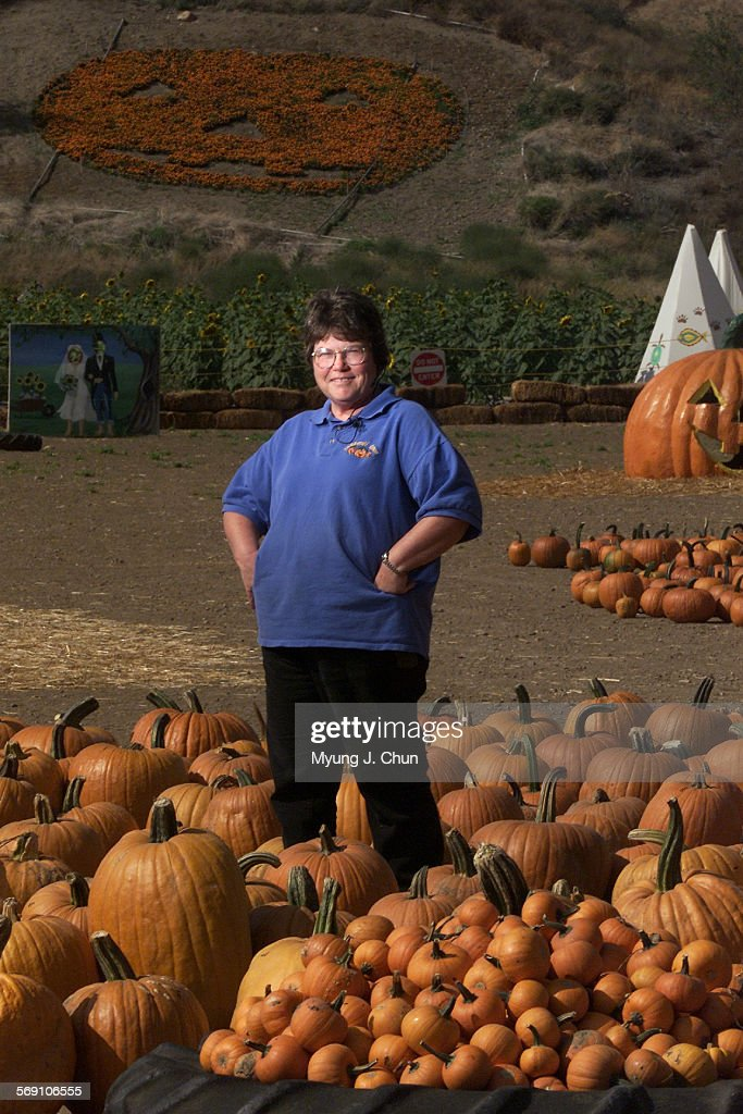 Joann Lombardi and her husband Bob own Lombardi Ranch in Saugus where pumpkins are put out in preparation for Halloween DIGITAL IMAGE SHOT ON...