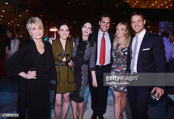 Joanna Cassidy KK Glick Jill Kargman Andy Buckley Abby Elliott and Sean Kleier attend the after party for Bravo's screening of 'Odd Mom Out' at Casa...
