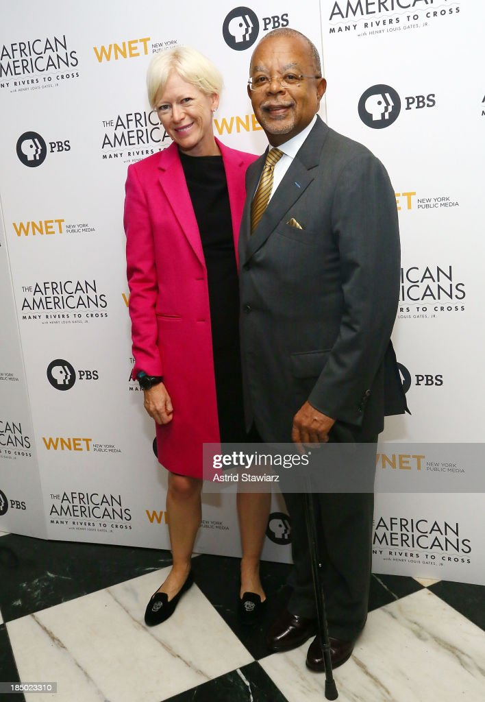 Joanna Coles and Henry Louis Gates Jr attend 'The African Americans Many Rivers to Cross' New York Series Premiere at the Paris Theater on October 16...