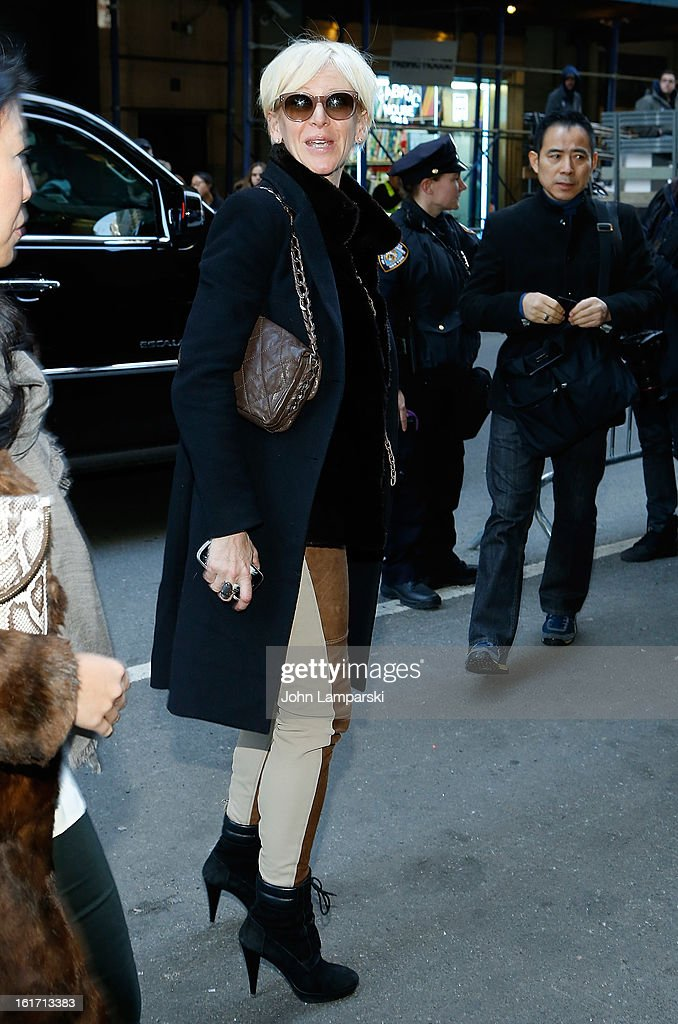 <a gi-track='captionPersonalityLinkClicked' href=/galleries/search?phrase=Joanna+Coles&family=editorial&specificpeople=4060670 ng-click='$event.stopPropagation()'>Joanna Coles</a> attends Calvin Klein Collection during Fall 2013 Mercedes-Benz Fashion Week on February 14, 2013 in New York City.