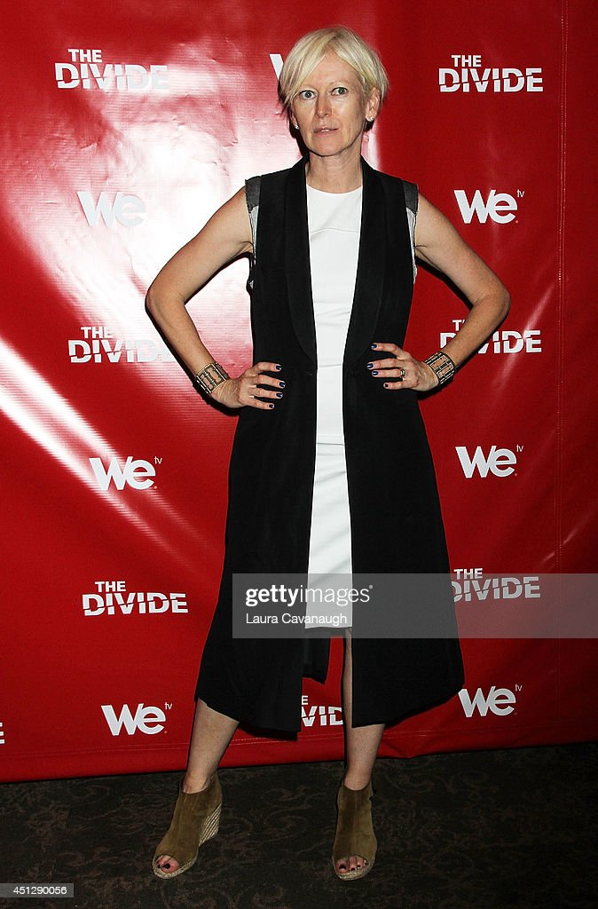 Joanna Coles attends 'The Divide' series premiere at Dolby 88 Theater on June 26, 2014 in New York City.