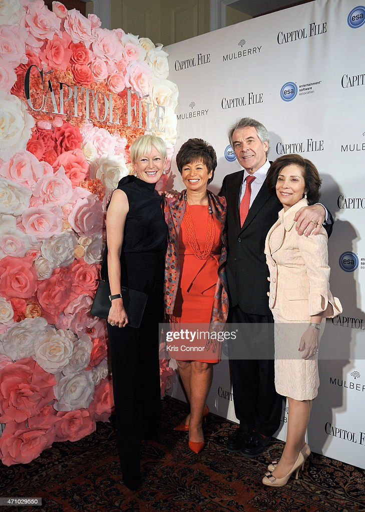 Joanna Coles Valerie Jarrett Sir Peter Westmacott and Lady Westmacott attend Capitol File's WHCD Weekend Welcome Reception with Cecily Strong at The...