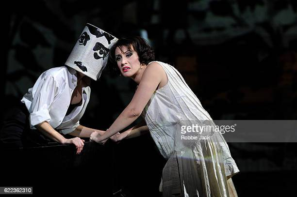 Joanna Dudley as Solo Performer and Brenda Rae as Lulu in English National Opera's production of Alban Berg's 'Lulu' directed and designed by William...