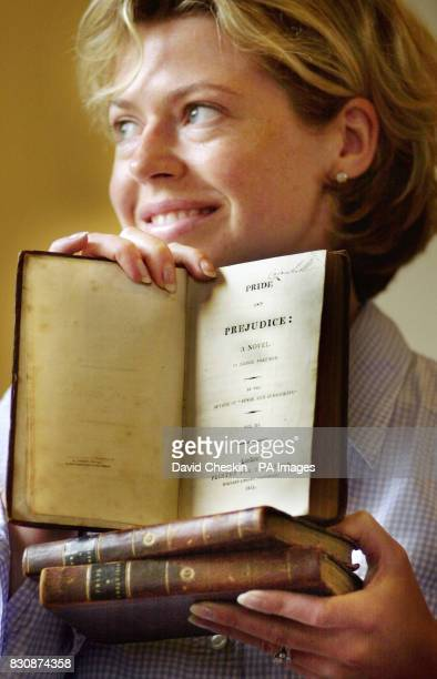 Joanna Frain Bell of Lyon Turnbull Edinburgh looks over three volumes of first editions of Pride and Prejudice that have been uncovered hidden in a...