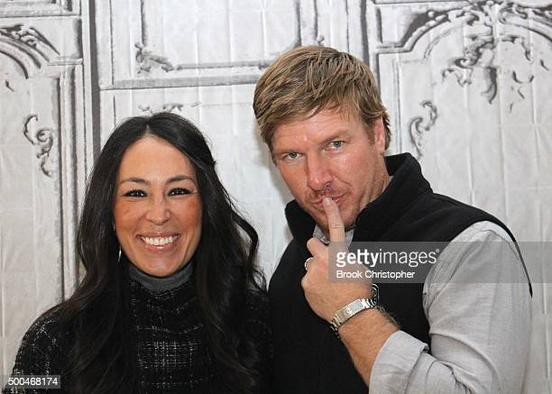 Joanna Gaines and Chip Gaines discuss their show 'Fixer Upper' at AOL Studios In New York on December 8 2015 in New York City