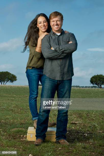 Joanna Gaines and Chip Gaines of HGTV's 'Fixer Uppers' are photographed for People Magazine on August 23 2016 in Waco Texas