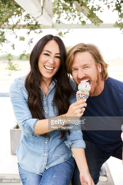 Joanna Gaines and Chip Gaines of HGTV's 'Fixer Uppers' are photographed for People Magazine on June 2 2017 in Waco Texas