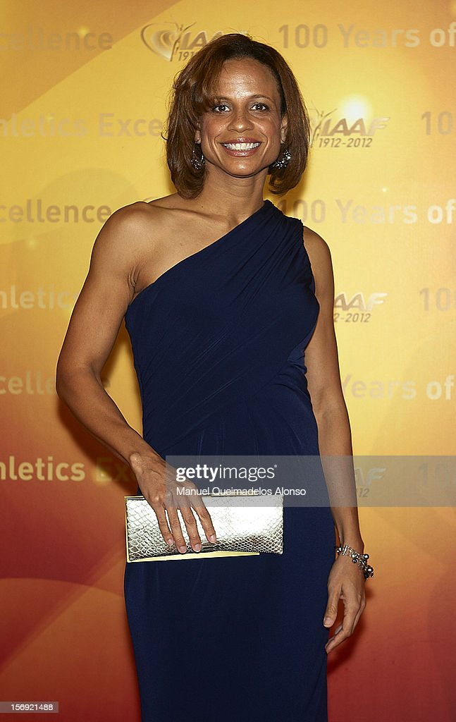 <a gi-track='captionPersonalityLinkClicked' href=/galleries/search?phrase=Joanna+Hayes&family=editorial&specificpeople=235885 ng-click='$event.stopPropagation()'>Joanna Hayes</a> of the United States attends the IAAF Centenary Gala at the Museo Nacional d'Art de Catalunya on November 24, 2012 in Barcelona, Spain.