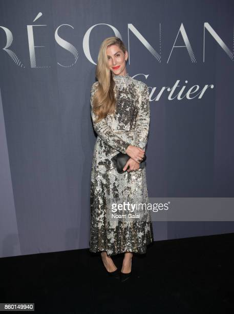 Joanna Hillman attends Cartier's celebration of Resonances de Cartier on October 10 2017 in New York City