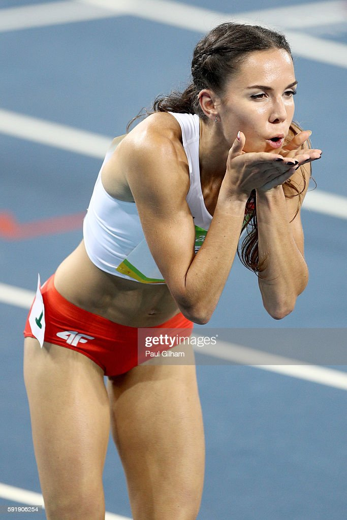 Joanna Jozwik of Poland competes during the Women's 800m Semifinals on Day 13 of the Rio 2016 Olympic Games at the Olympic Stadium on August 18 2016...