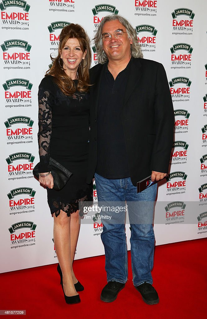 Joanna Kaye and <a gi-track='captionPersonalityLinkClicked' href=/galleries/search?phrase=Paul+Greengrass&family=editorial&specificpeople=240256 ng-click='$event.stopPropagation()'>Paul Greengrass</a> attend the Jameson Empire Awards 2014 at the Grosvenor House Hotel on March 30, 2014 in London, England. Regarded as a relaxed end to the awards show season, the Jameson Empire Awards celebrate the film industry's success stories of the year with winners being voted for entirely by members of the public. Visit empireonline.com/awards2014 for more information.