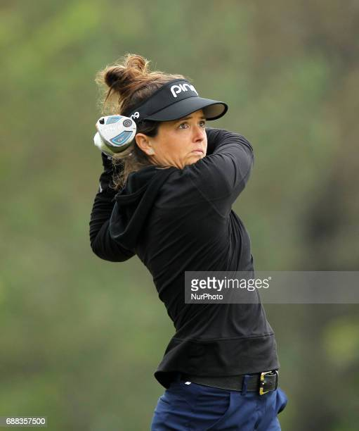Joanna Klatten of France during the first round tees off on the second tee of the LPGA Volvik Championship at Travis Pointe Country Club Ann Arbor MI...