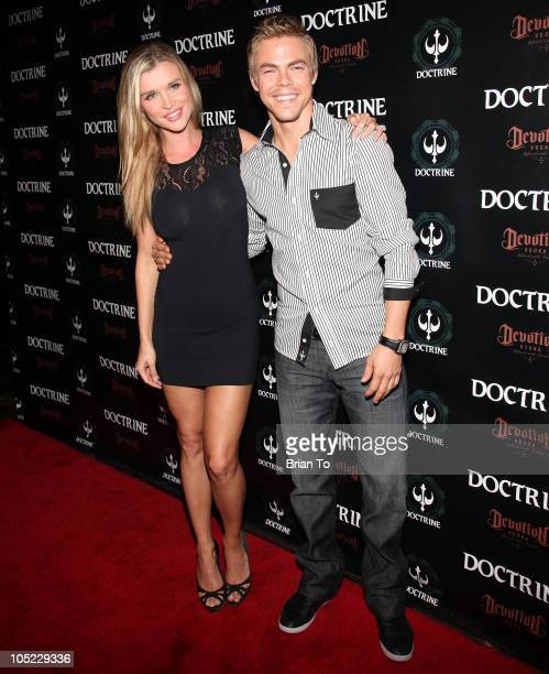 Joanna Krupa and Derek Hough attend Doctrine denim launch party at Boudoir on October 12 2010 in Los Angeles California