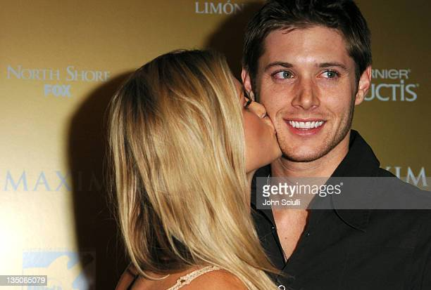 Joanna Krupa and Jensen Ackles during Maxim Magazine Hot 100 Party in Celebration of the Grand Opening of Body English In the Hard Rock Hotel Casino...