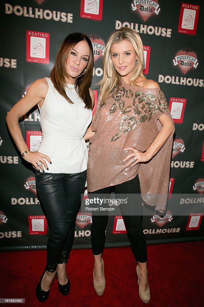 Joanna Krupa (R) and Robin Antin arrive at Pussycat Dolls Dollhouse on February 16, 2013 in San Diego, California.