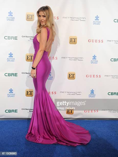 Joanna Krupa arrives at the Metropolitan Fashion Week 2016 La Vie En Bleu Signature Event Benefiting Autism Speaks at Warner Bros Studios on...