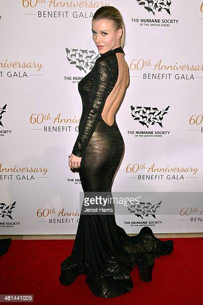 Joanna Krupa attends the Humane Society of the United States 60th Anniversary Benefit Gala at The Beverly Hilton Hotel on March 29 2014 in Beverly...