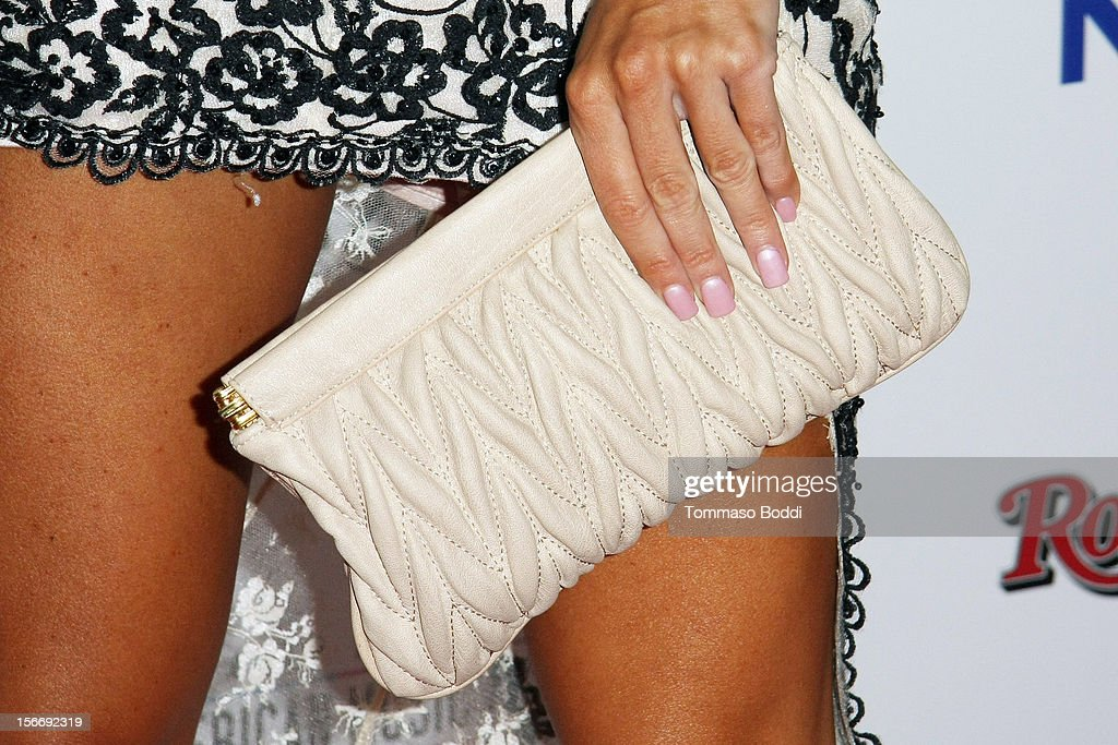 Joanna Krupa (handbag detail) attends the Rolling Stone after party for the 2012 American Music Awards presented by Nokia and Rdio held at the Rolling Stone Restaurant And Lounge on November 18, 2012 in Los Angeles, California.