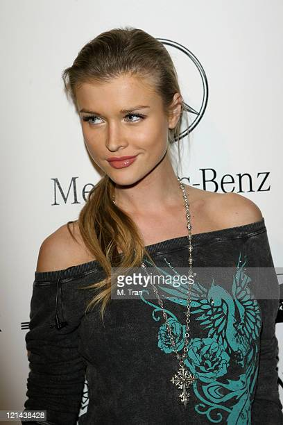 Joanna Krupa backstage at Monarchy Collection Fall 2007