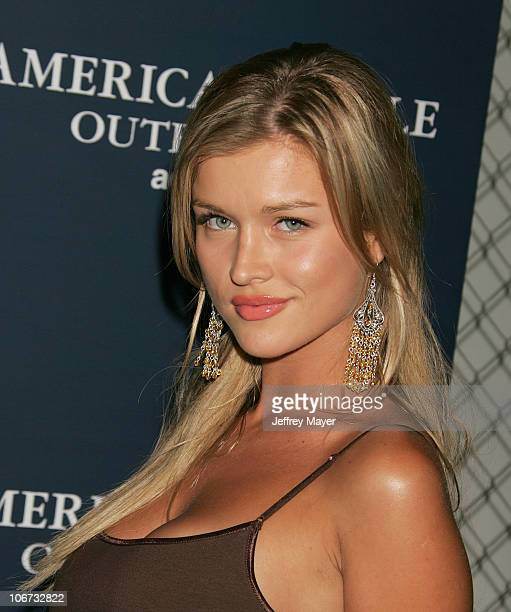 Joanna Krupa during American Eagle Outfitters Rocks Los Angeles with a Back To School Tailgate Party Arrivals at Hollywood Lot in Hollywood...