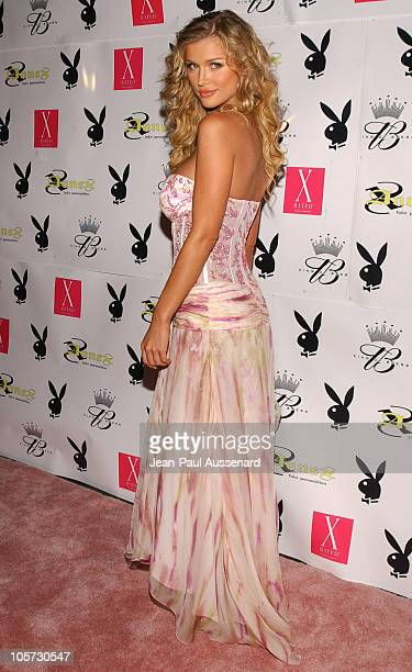 Joanna Krupa during Playboy July 2005 Issue Release Party for Cover Model Joanna Krupa at Montmartre Lounge in Hollywood California United States