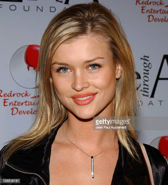 Joanna Krupa during The First Annual 'Red Party' To Benefit The Life Through Art Foundation at Private residence in Holmby Hills California United...
