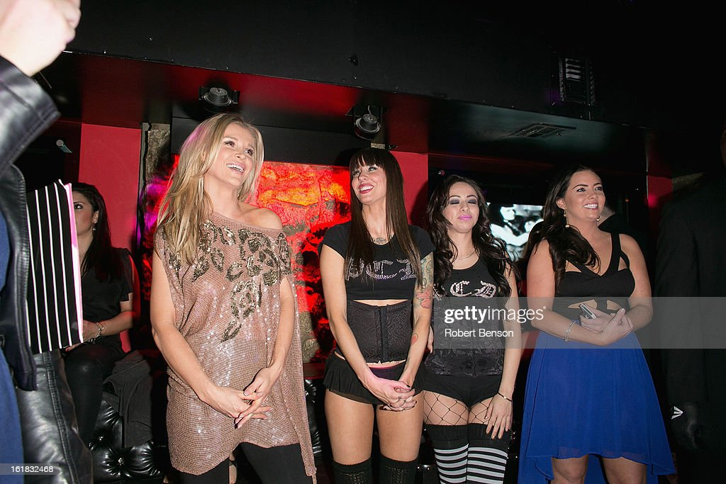 <a gi-track='captionPersonalityLinkClicked' href=/galleries/search?phrase=Joanna+Krupa&family=editorial&specificpeople=224038 ng-click='$event.stopPropagation()'>Joanna Krupa</a> (L) parties at Pussycat Dolls Dollhouse on February 16, 2013 in San Diego, California.
