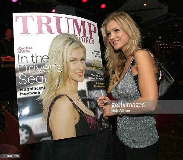 "Joanna Krupa ' Trump World Magazine' Cover Model during Trump World Magazine Party with Cast Members of ""The Apprentice"" at The Wave at Trump Marina..."