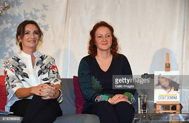 Joanna LuberadzkaGruca and Dominika Kulczyk promoting her book 'Efekt domina' on October 20 2016 in Warsaw Poland Kulczyk is a founder and CEO of...