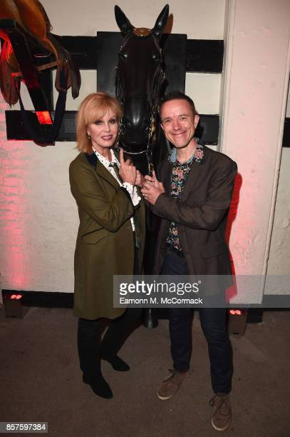 Joanna Lumley and Adrian Sutton attend War Horse 'The Story In Concert' special evening at The Household Cavalry Museum on October 4 2017 in London...